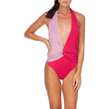 Oblačila Ženske Enodelne kopalke Me Fui M20-0008FX Roza