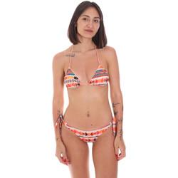 Oblačila Ženske Dvodelne kopalke Me Fui M20-0033X2 Oranžna