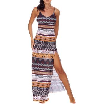 Oblačila Ženske Dolge obleke Me Fui M20-0080X1 Rjav