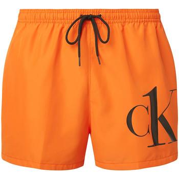Oblačila Moški Kratke hlače & Bermuda Calvin Klein Jeans KM0KM00591 Oranžna