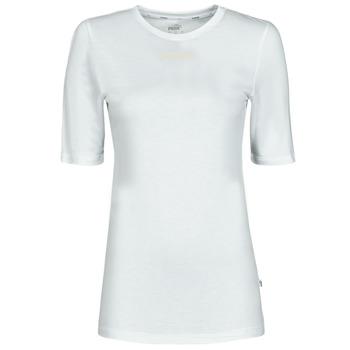 Oblačila Ženske Majice s kratkimi rokavi Puma MBASIC TEE Bela