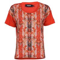 Oblačila Ženske Majice s kratkimi rokavi Desigual LOMBOK Večbarvna