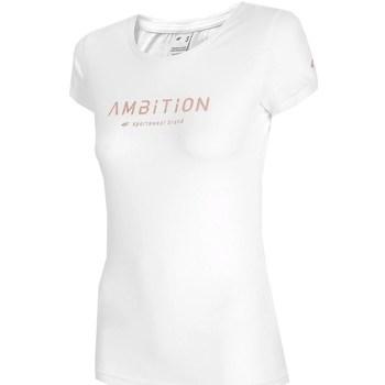 Oblačila Ženske Majice s kratkimi rokavi 4F TSD033 Bela