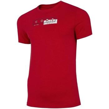 Oblačila Moški Majice s kratkimi rokavi 4F H4L21 TSM021 Rdeča