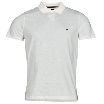 Oblačila Moški Polo majice kratki rokavi Tommy Hilfiger LINEN JERSEY SLIM PO, AF2 Bela