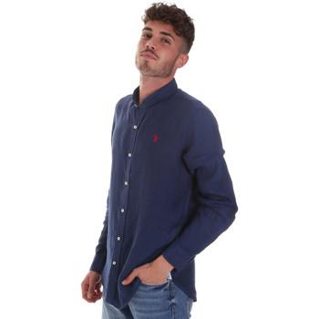 Oblačila Moški Srajce z dolgimi rokavi U.S Polo Assn. 58667 50816 Modra