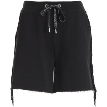 Oblačila Ženske Kratke hlače & Bermuda Fracomina FT21SP1002F400N5 Črna