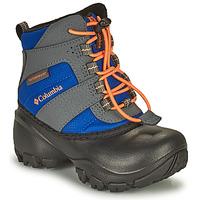 Čevlji  Otroci Škornji za sneg Columbia CHILDRENS ROPE TOW Modra / Oranžna