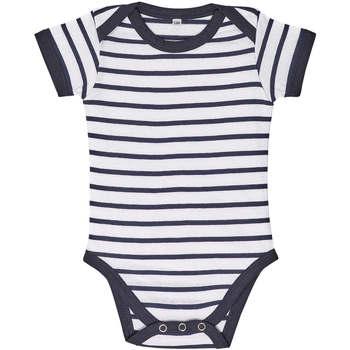 Oblačila Otroci Otroški kompleti Sols Body bebé a rayas Azul