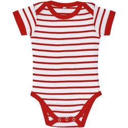 Oblačila Otroci Otroški kompleti Sols Body bebé a rayas Rojo