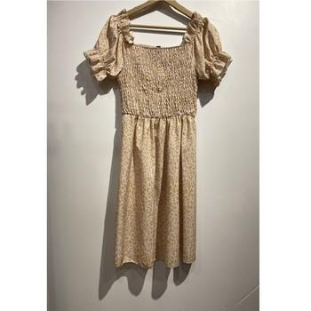 Oblačila Ženske Kratke obleke Fashion brands 53176-BEIGE Bež