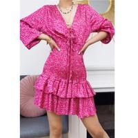 Oblačila Ženske Kratke obleke Fashion brands 22974-FUSHIA Fuksija