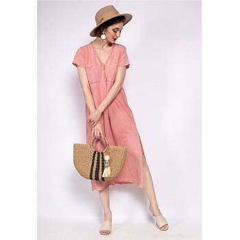 Oblačila Ženske Kratke obleke Fashion brands 6658-CORAIL Koralna