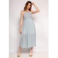 Oblačila Ženske Dolge obleke Fashion brands 571-BLEU-CLAIR Modra / Svetla