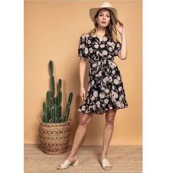 Oblačila Ženske Kratke obleke Fashion brands 2145A-NOIR Črna