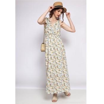 Oblačila Ženske Kratke obleke Fashion brands R182-BEIGE Bež