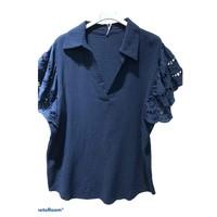 Oblačila Ženske Topi & Bluze Fashion brands 310311-NAVY Modra