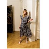 Oblačila Ženske Topi & Bluze Fashion brands CK08138-MARINE Modra