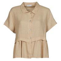 Oblačila Ženske Topi & Bluze Fashion brands 10998-BEIGE Bež