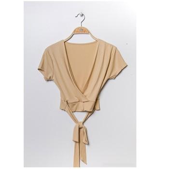 Oblačila Ženske Topi & Bluze Fashion brands FR029T-BEIGE Bež
