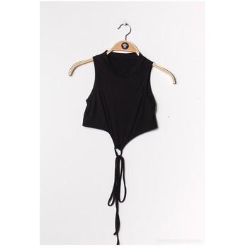 Oblačila Ženske Topi & Bluze Fashion brands FR070-BLACK Črna