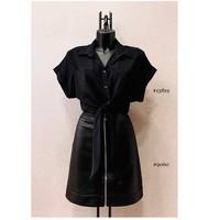 Oblačila Ženske Topi & Bluze Fashion brands ERMD-13819-N-BLACK Črna
