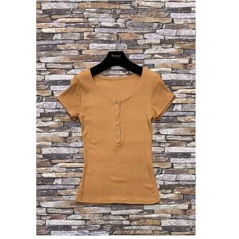 Oblačila Ženske Topi & Bluze Fashion brands HS-2863-BROWN Kostanjeva