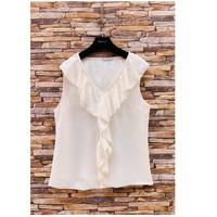 Oblačila Ženske Topi & Bluze Fashion brands ERMD-13797-CP-BLANC Bela