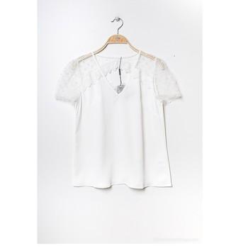 Oblačila Ženske Topi & Bluze Fashion brands K5518-WHITE Bela