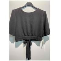 Oblačila Ženske Topi & Bluze Fashion brands 5172-BLACK Črna