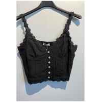 Oblačila Ženske Topi & Bluze Fashion brands 6133-BLACK Črna