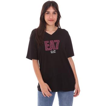 Oblačila Ženske Majice s kratkimi rokavi Ea7 Emporio Armani 3KTT24 TJ1TZ Črna