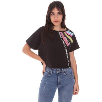 Oblačila Ženske Majice s kratkimi rokavi Ea7 Emporio Armani 3KTT40 TJ39Z Črna