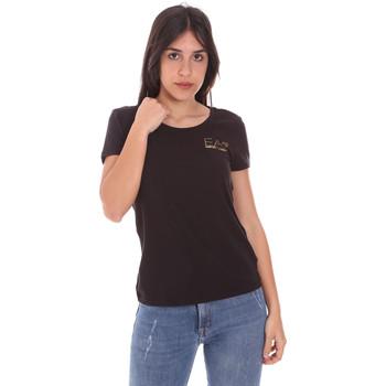 Oblačila Ženske Majice s kratkimi rokavi Ea7 Emporio Armani 8NTT65 TJ28Z Črna