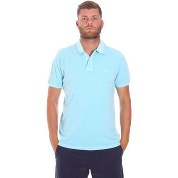 Oblačila Moški Polo majice kratki rokavi Sundek M787PLPQ1TC Modra