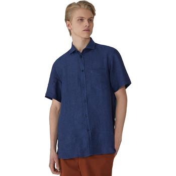 Oblačila Moški Srajce s kratkimi rokavi Trussardi 52C00213-1T002248 Modra