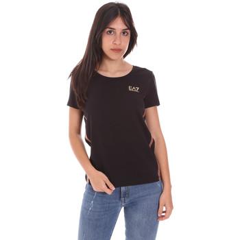 Oblačila Ženske Majice s kratkimi rokavi Ea7 Emporio Armani 3KTT51 TJ9VZ Črna
