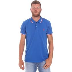Oblačila Moški Polo majice kratki rokavi Lumberjack CM45940 016EU Modra