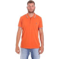 Oblačila Moški Polo majice kratki rokavi Lumberjack CM45940 016EU Oranžna