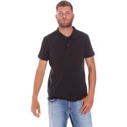 Oblačila Moški Polo majice kratki rokavi Lumberjack CM45940 017EU Črna