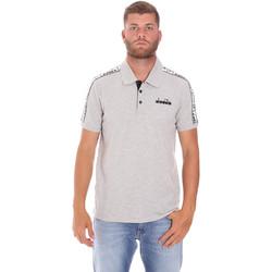 Oblačila Moški Polo majice kratki rokavi Diadora 102175672 Siva