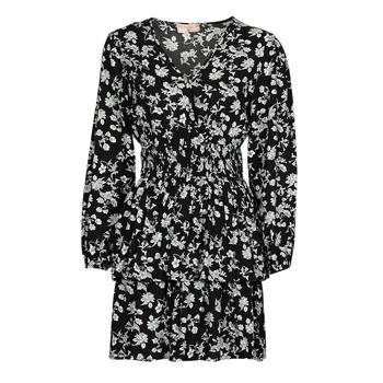 Oblačila Ženske Kratke obleke Moony Mood PAPIS Črna / Bela