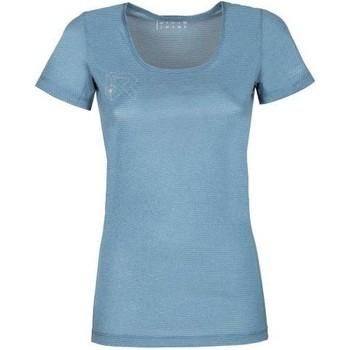 Oblačila Ženske Majice s kratkimi rokavi Rock Experience T-shirt Femme  Offsets Cams SS bleu clair