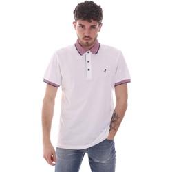 Oblačila Moški Polo majice kratki rokavi Navigare NV82125 Biely