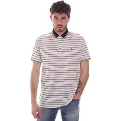 Oblačila Moški Polo majice kratki rokavi Navigare NV70034 Biely
