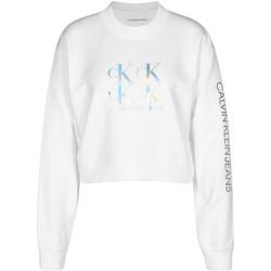 Oblačila Ženske Puloverji Calvin Klein Jeans J20J215575 Biely