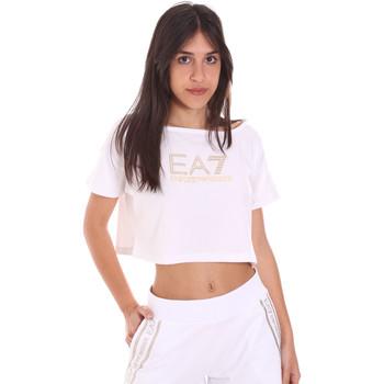 Oblačila Ženske Majice s kratkimi rokavi Ea7 Emporio Armani 3KTT03 TJ28Z Biely