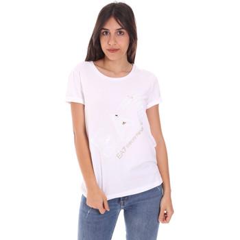 Oblačila Ženske Majice s kratkimi rokavi Ea7 Emporio Armani 3KTT28 TJ12Z Biely