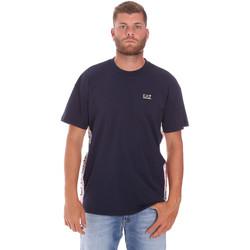 Oblačila Moški Majice s kratkimi rokavi Ea7 Emporio Armani 3KPT13 PJ02Z Modra