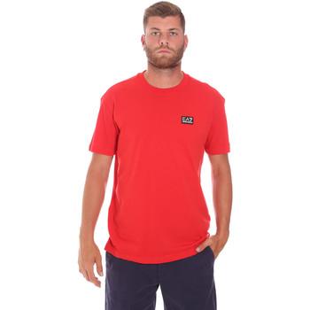 Oblačila Moški Majice s kratkimi rokavi Ea7 Emporio Armani 3KPT63 PJ6EZ Rdeča